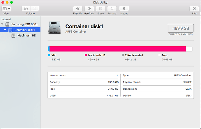 My Mac keeps restarting, almost full storage a solution
