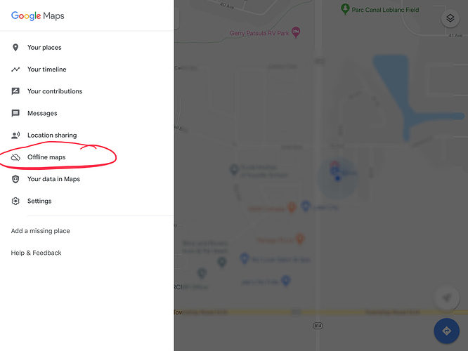 Google maps - offline doesn't work without cellular or wifi