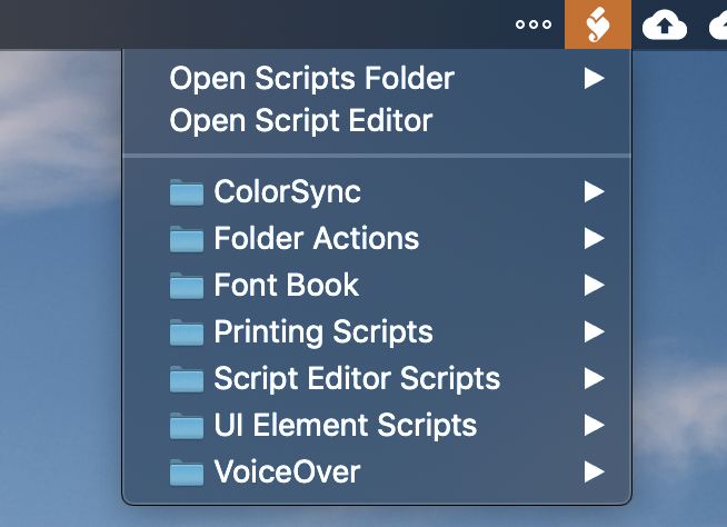 How can I get rid of the Scripts Icon in the Menu Bar? - MPU