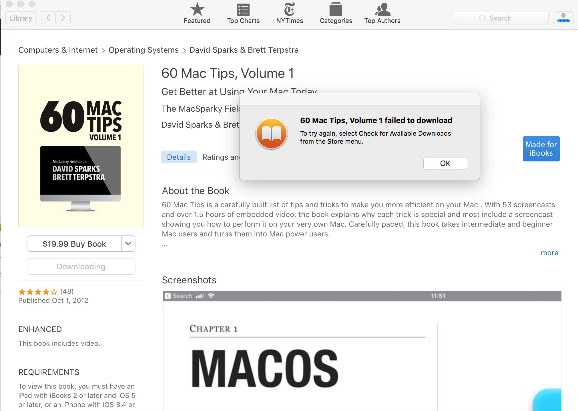 iBooks Store broken? - Tech Support - MPU Talk