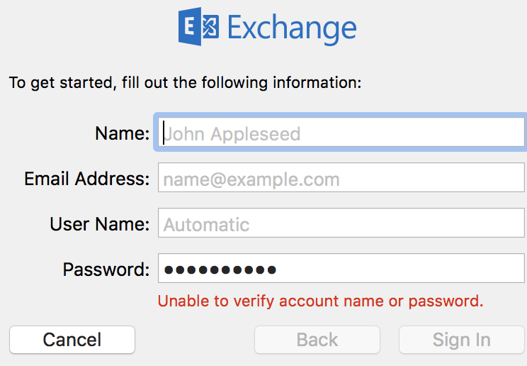 Cannot add Exchange account in MAC - Software - MPU Talk
